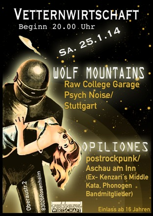 Wolf Mountains and Opiliones am 25.1.14 in der Vettern